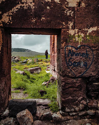 Photograph - Near Guzelyurt - Kizel Kilise - Side Door by Mark Forte