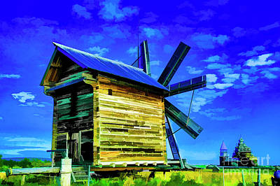 Photograph - Kizhi Island Windmill by Rick Bragan