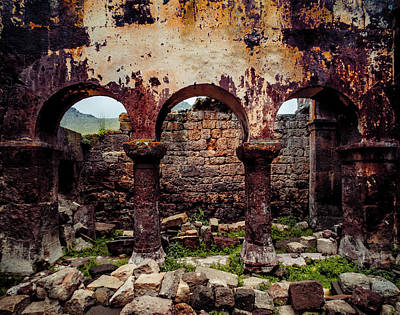 Photograph - Near Guzelyurt - Kizil Kilise - Side Aisle by Mark Forte