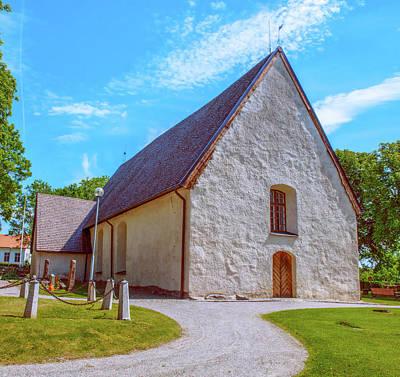 Photograph - Kjaerrbo Church  by Leif Sohlman
