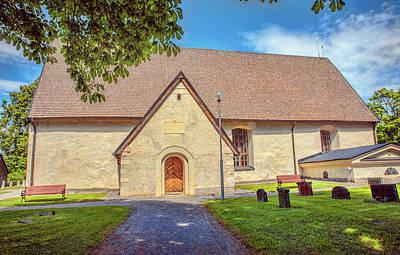 Photograph - Kjaerrbo Church South.  by Leif Sohlman
