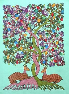 Gond Painting - Kk 11 by Kamli Kushram