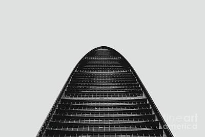 Photograph - Kk100 Shenzhen Skyscraper Art Grey by Marco Toscani