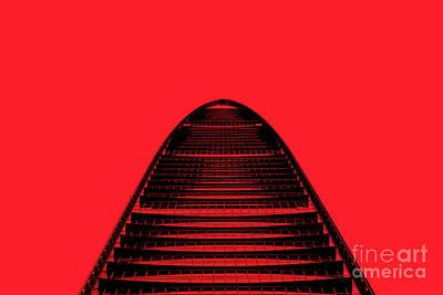 Photograph - Kk100 Shenzhen Skyscraper Art Red by Marco Toscani