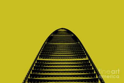Photograph - Kk100 Shenzhen Skyscraper Art Yellow by Marco Toscani