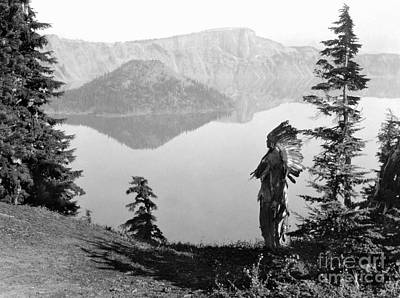 Crater Lake Wall Art - Photograph - Klamath Chief, C1923 by Granger