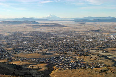 Photograph - Klamath Falls Basin And Mount Shasta, California by Robert Mutch