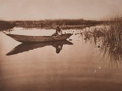 Klamath Lake Marshes , Native American By Edward Sheriff Curtis, 1868 - 1952 Art Print