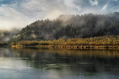 Photograph - Klamath River With Mists In Autumn by Greg Nyquist