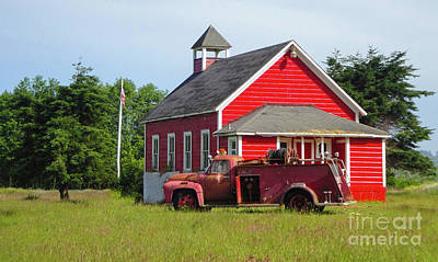 Photograph - Klamath Schoolhouse by Gregory Dyer