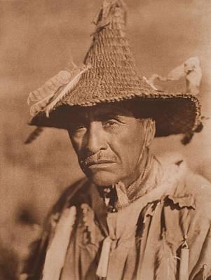 Klamath Warrior's Head-dress C.1923 , Native American By Edward Sheriff Curtis, 1868 - 1952 Art Print