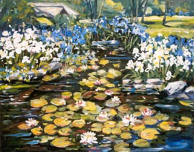 Painting - Klehm Arboretum by Ingrid Dohm
