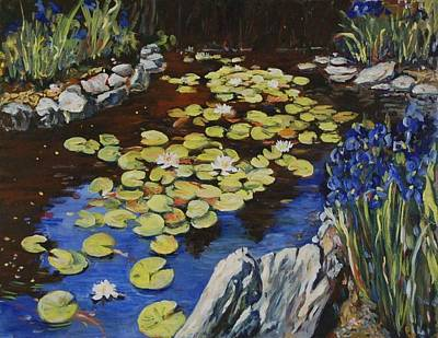 Painting - Klehm Arboretum Lily Pond by Ingrid Dohm