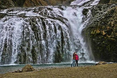 Photograph - Kleifarfoss Waterfall # 2 by Allen Beatty