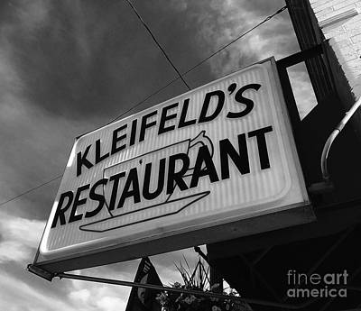 Photograph - Kleifeld's Restaurant by Michael Krek