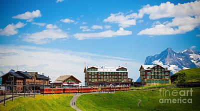 Jungfraujoch Photograph - Kleine Scheidegg Railway Station by Anna Serebryanik