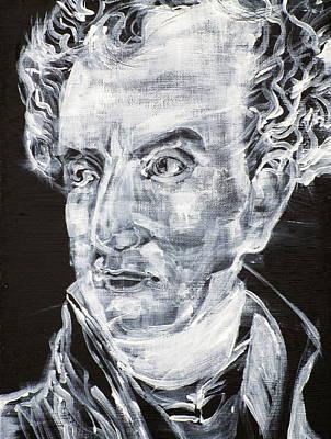 Painting - Klemens Von Metternich - Acrylic Portrait by Fabrizio Cassetta