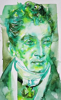 Painting - Klemens Von Metternich - Watercolor Portrait.2 by Fabrizio Cassetta