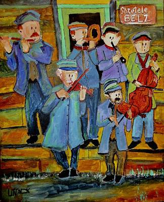Litvack Painting - Klezmer Band 1925 Belz by Michael Litvack