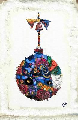 Patch Quilts Painting - Klimt Ornament by Carrie Joy Byrnes