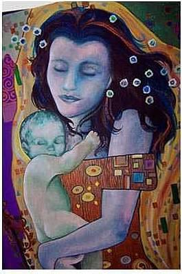 Painting - Klimt Study by Kaley LaRose