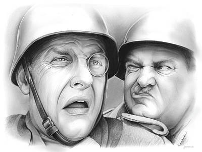 Drawing - Klink And Shultz by Greg Joens