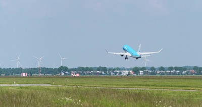 Photograph - Klm Airplane Takes Off by Hans Engbers