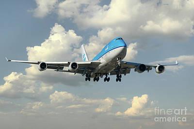 Klm Boeing 747 Art Print