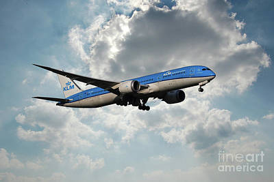 Boeing 787 Dreamliner Digital Art - Klm Boeing 787-9 Dreamliner by J Biggadike