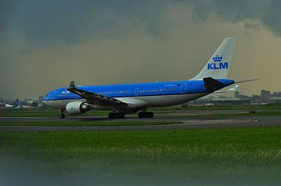 Photograph - Klm On Cloudy Day   by Puzzles Shum