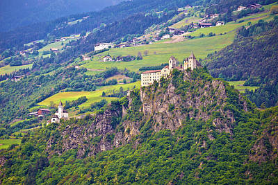 Photograph - Kloster Saben Castle On Green Apls Hills Near Sabiona by Brch Photography