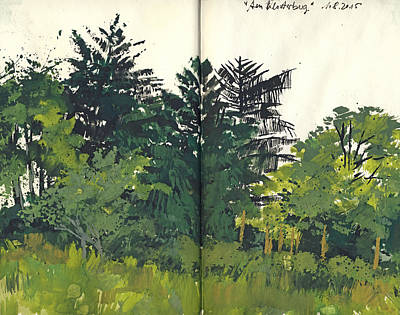 Painting - Klosterberg Maulbronn Landschaftsskizze by Martin Stankewitz
