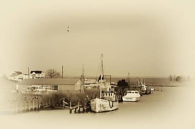Knapps Narrows Tilghman Island Art Print by Bill Cannon