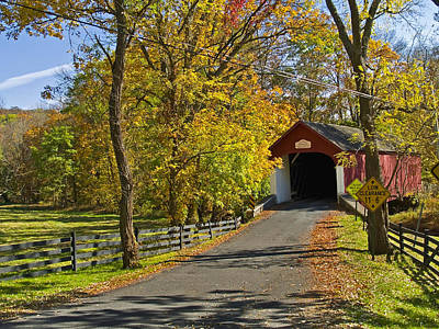 Photograph - Knechts Covered Bridge by Andrew Kazmierski