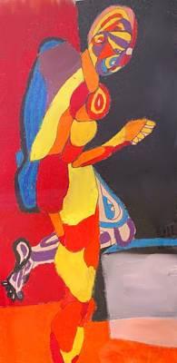 Drawing - Kneeling by Ian  MacDonald