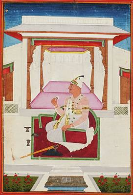 18th Century Painting - Kneeling On A Palace Terrace by Eastern Accent