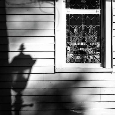 Shadow Photograph - Kneeling Shadow Black And White by Greg Mimbs