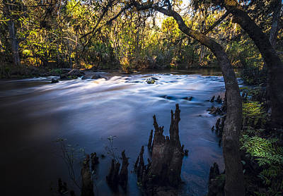 Overhang Photograph - Knees In The Rapids by Marvin Spates