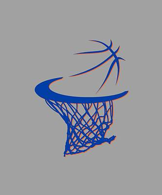 Knicks Basketball Hoop Art Print by Joe Hamilton