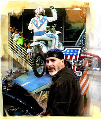 Knievel American Tradition   Robbie Knievel Art Print by Iconic Images Art Gallery David Pucciarelli