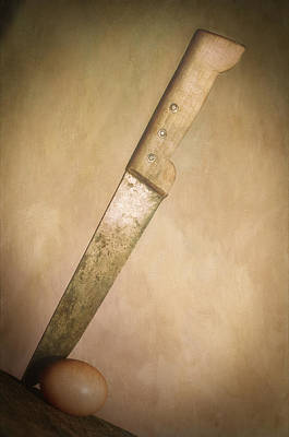 Textured Photograph - Knife And Egg by Robert Brown