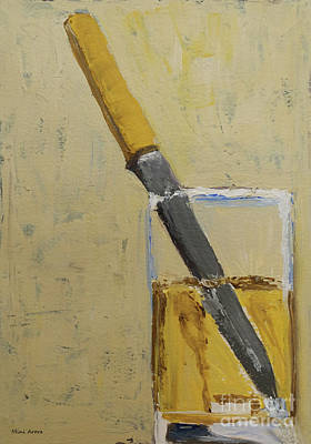 Bay Area Figurative Painting - Knife In Glass - After Diebenkorn by Mini Arora