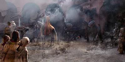 Warrior Painting - Knight 845698 by Jani Heinonen
