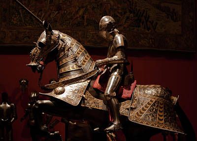 Photograph - Knight And Horse In Armor by Lorraine Devon Wilke