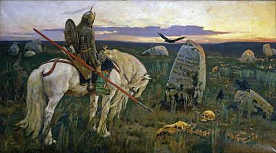 Painting - Knight At The Crossroads by Viktor Vasnetsov