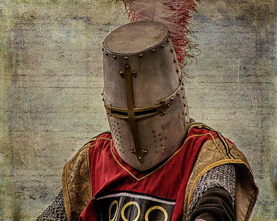 Art Print featuring the photograph Knight In Armor by Mary Hone