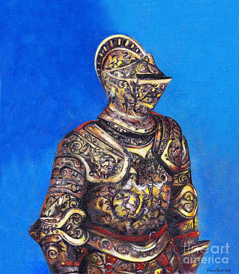 Painted Details Drawing - Knight In Detailed Armor by Deanna Yildiz