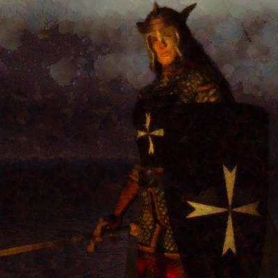 Fantasy Royalty-Free and Rights-Managed Images - Knight King by Esoterica Art Agency
