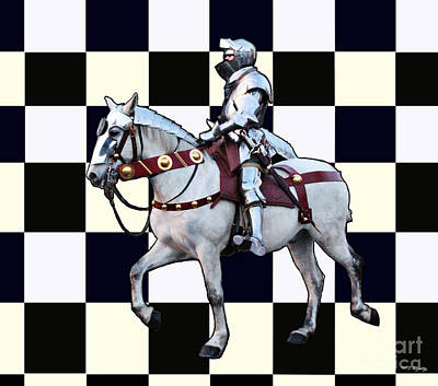Photograph - Knight On His White Horse With Chess Board by Tom Conway