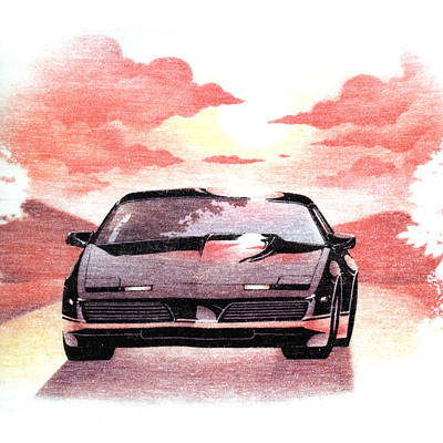 Art Print featuring the digital art Knight Rider by Gina Dsgn